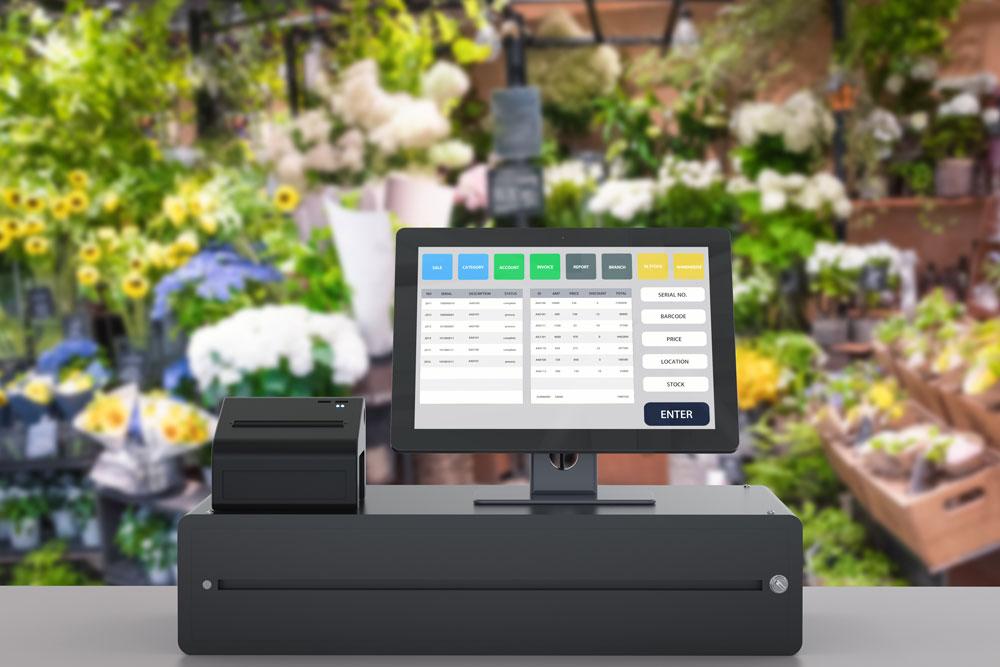 Cashier cash register garden center return policy customer service garden center dig marketing