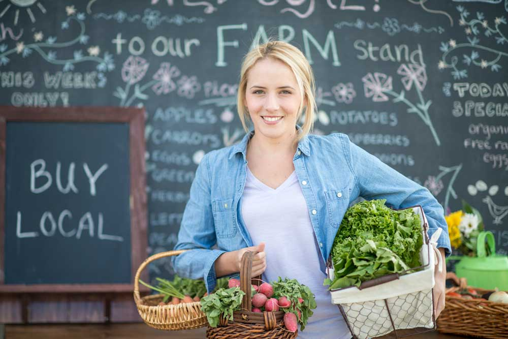 Millennial gardener gardening organic vegetables marketing
